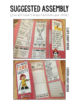Fire Safety Lap Book:  A Project for Fire Prevention Month