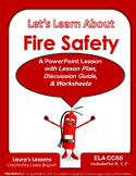 Fire Safety PowerPoint Lesson with Lesson Plan & Worksheet