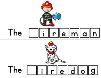 Fire Safety Activities!  Letter Tile Cards!  Fire Safety Resources