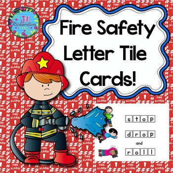 Fire Safety Activities!  Letter Tile Cards!  Fire Safety R