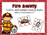 Fire Safety Letter and Number Match Mats