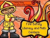 Fire Safety Literacy and Math Centers and Extra Printables