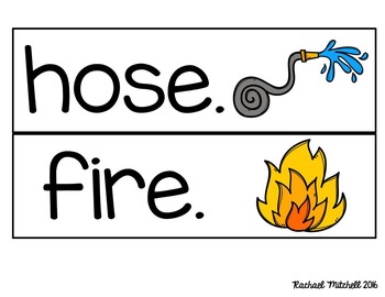 Fire Safety Literacy and Math Centers for Kindergarten