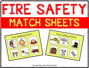 Fire Safety Match Sheets