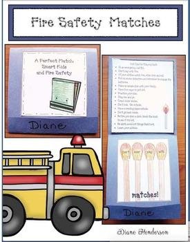 """Fire Safety Activities: """"A Perfect Match"""" Fire Safety Matchbook Craft"""