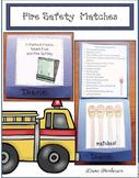 "Fire Safety Activities: ""A Perfect Match"" Fire Safety Matc"