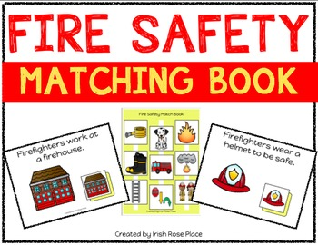 Fire Safety Matching Book (Adapted Book)