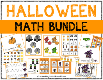 Halloween Math Bundle with Adapted Books