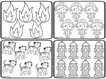 Fire Safety Kindergarten Math Centers