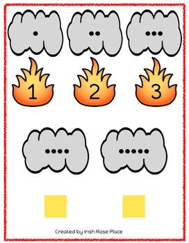 Fire Safety Math File Folders