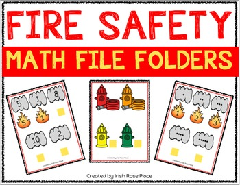 Fire Safety Math File Folders