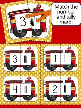 Fire Safety Math & Language Arts Bundle of Activities