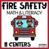 Fire Safety Math and Literacy Centers for Pre-K and Kindergarten {BUNDLE}
