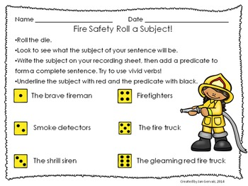 Fire Safety Math and Literacy Activities: Common Core Aligned