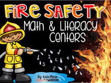 Fire Safety Math and Literacy Centers for Kindergarten
