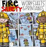 Fire Safety Math and Literacy Worksheets Distance Learning