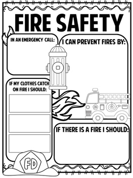 Fire Safety Mini Book and Activities
