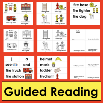 Fire Safety Readers  - 2 Reading Levels + Illustrated Word Wall Words