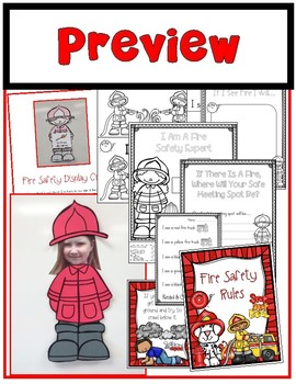 Fire Safety Mini Unit (Fireman Craft, Posters, Reading, Math & More)