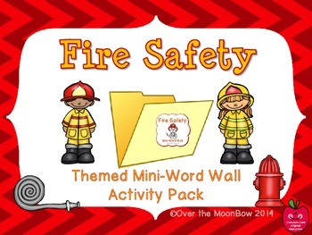 Fire Safety Mini-Word Wall Activity Pack