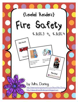 Fire Safety Minibooks {Leveled Readers}