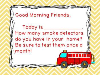 Fire Safety - Morning Messages