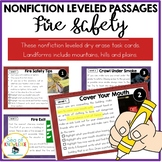 Fire Safety Leveled Nonfiction Reading Comprehension Passa