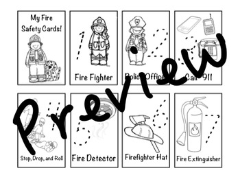 Fire Safety Number Cards