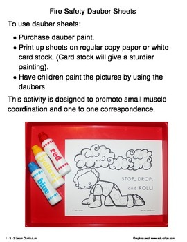 Fire Safety Paint Dauber Sheets