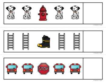 Fire Safety Pattern Cards {AB, ABC, ABB, AAB}