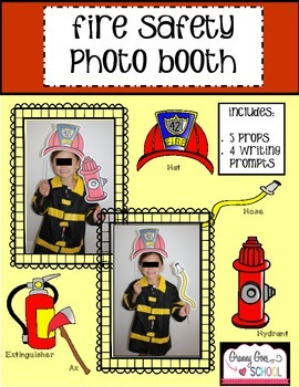 Fire Safety Photo Booth Props and Wrtiting Prompts