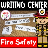 Fire Safety Pictionary Cards - Writing Center, Write the Room