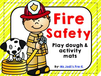 Fire Safety Play Dough Mats