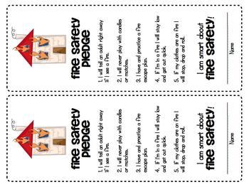 Fire Safety Pledge {Jumbo Bookmarks}