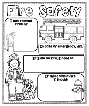 Fire Safety Poster {For Bulletin Boards}
