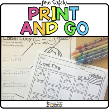 Fire Safety Print & Go Activities
