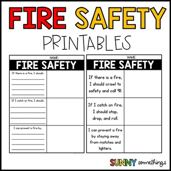 photo regarding Fire Safety Printable called Hearth Protection Printable via Sunny Somethings Instructors Pay out