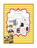 Fire Safety Printable No Prep