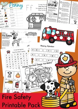 Fire Safety Printable Pack