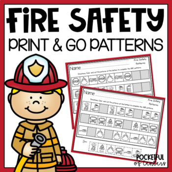 Fire Safety Pattern Printables