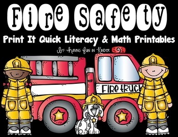 Fire Safety Printables - {Literacy and Math}