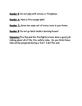 Fire Safety Readers Theater