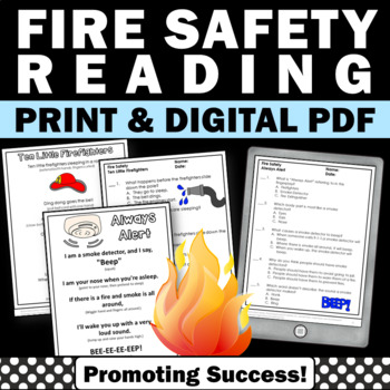 Fire Safety Literacy Activities, Fire Safety Activities Fi