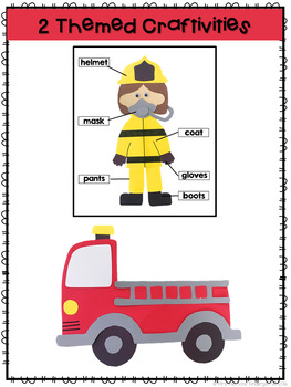 Fire Safety: Reading Comprehension, Writing and Craftivities