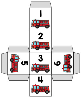 Fire Safety Roll and Count Numbers 1-12