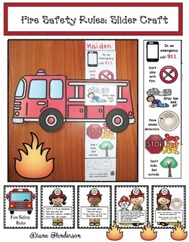 Fire Safety Rules: Fire Truck Slider Craftivity & Fire Safety Posters