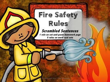 Fire Safety Rules: Scrambled Sentences
