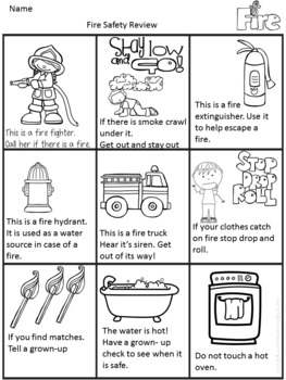 Fire Safety Rules with Math and Literacy