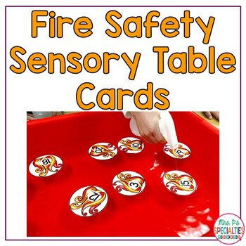 Fire Safety Sensory Table Cards
