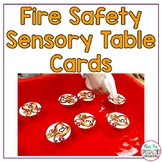Fire Safety Sensory Table Cards for Special Education (Fine Motor & Autism)